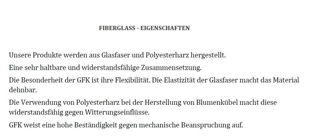 Information Fiberglass