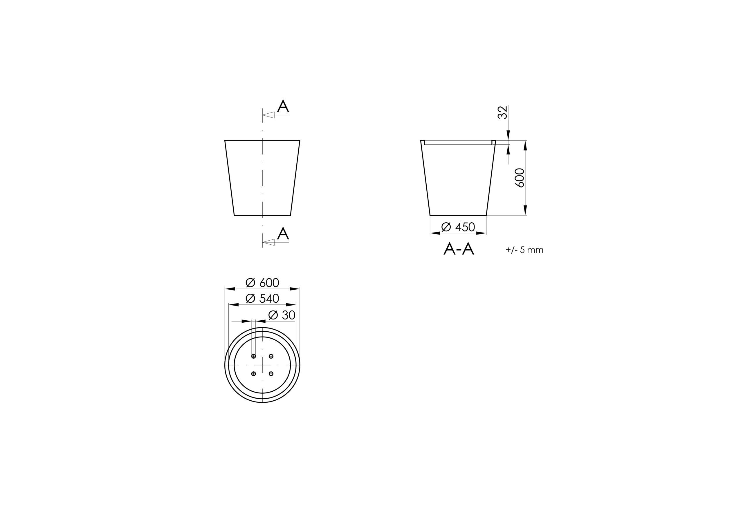 Vaso 4 -Technisches Zeichnen