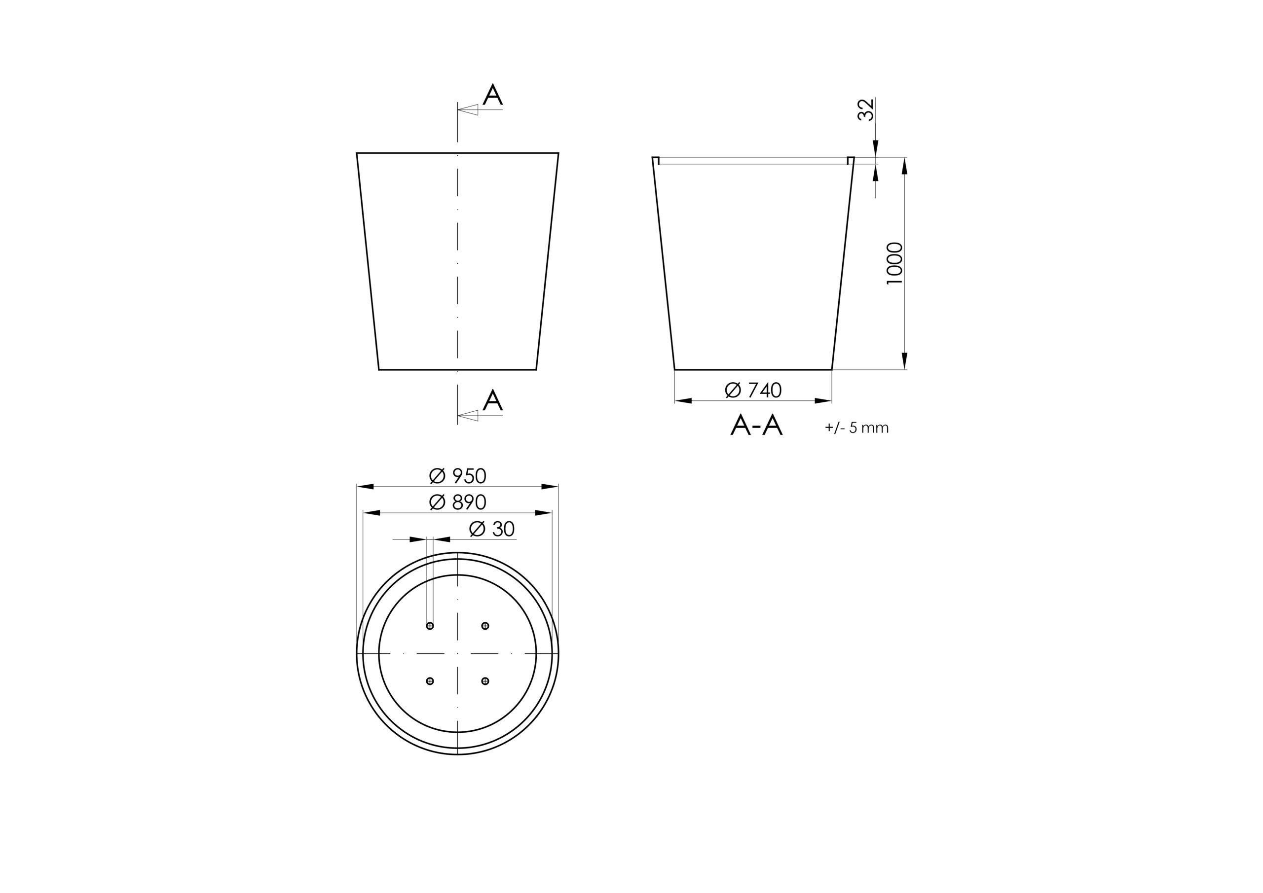 Vaso 6 -Technisches Zeichnen
