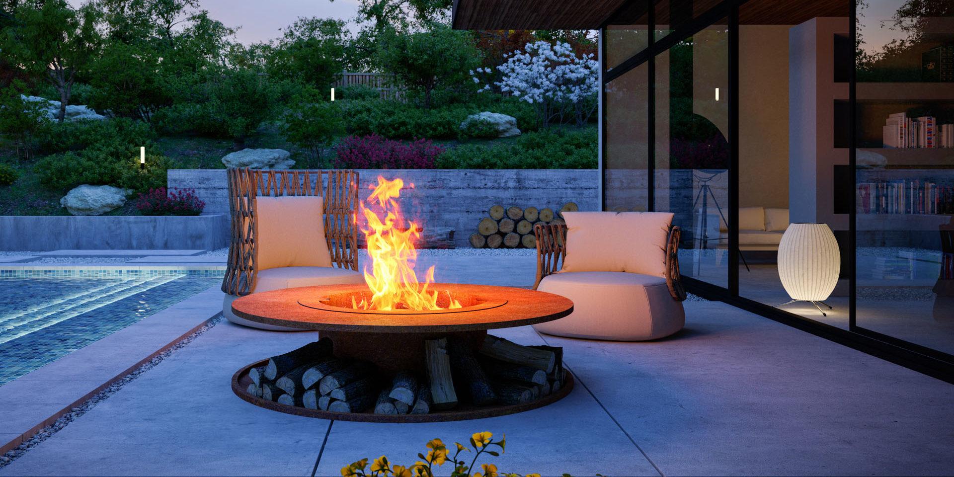 Ihre Eigene Feuerstelle Fur Den Garten Worldofflowerpots