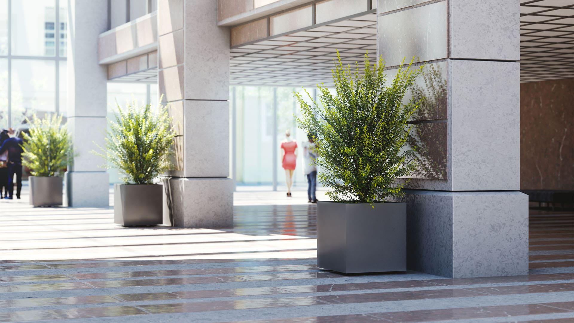 Blumenkübel World Of Flowerpots Beton Aluminium Corten Gfk Stone