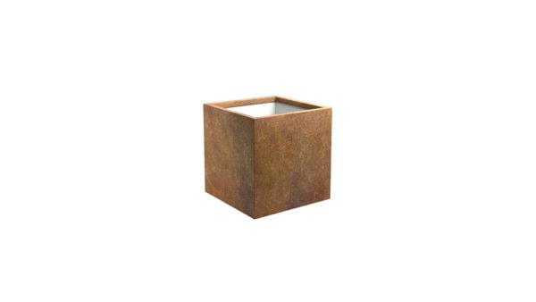Pflanztopf in rost Model Cubi 1