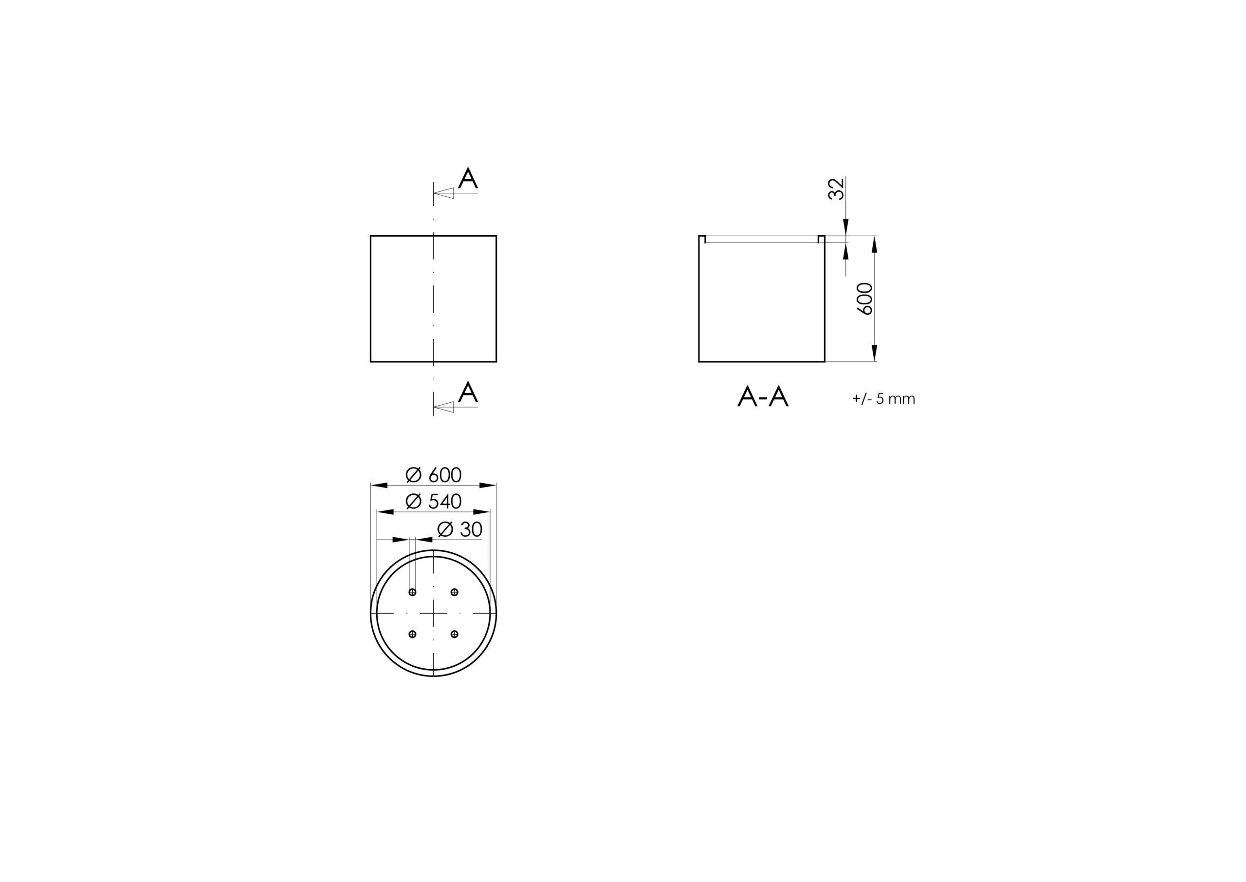 Vaso 1 -Technisches Zeichnen