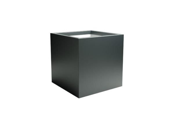 Pflanzkübel aus aluminium rechteckig in anthrazit Model Alessio 3