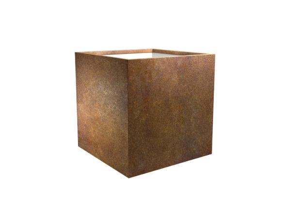Blumenkübel aus cortenstahl Model Cube 4