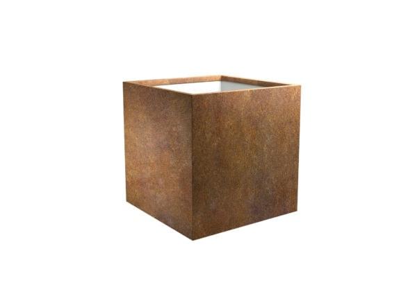 Pflanzgefäss aus Cortenstahl Model Cubi 3