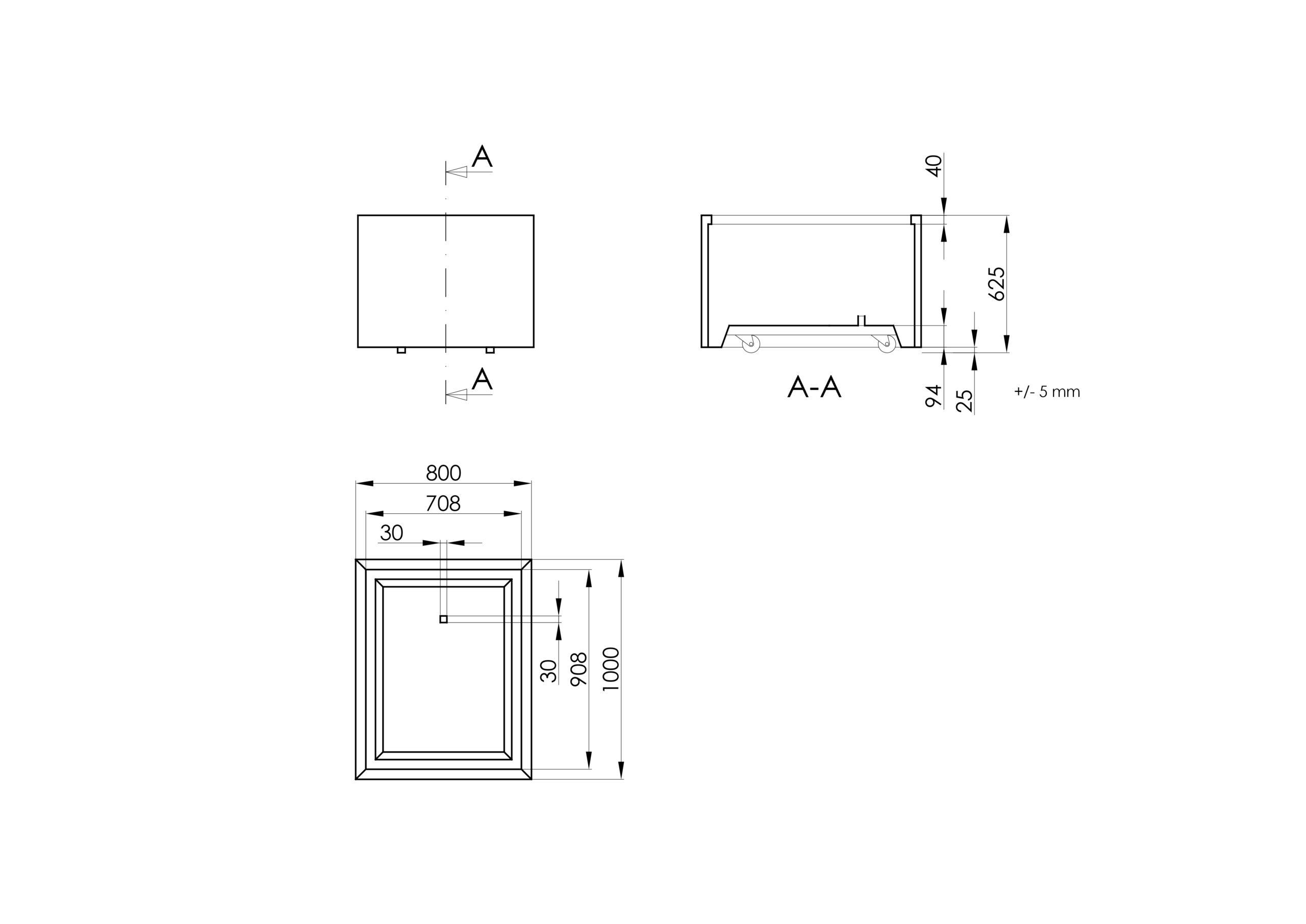 Giorgio Mobile -Technisches Zeichnen
