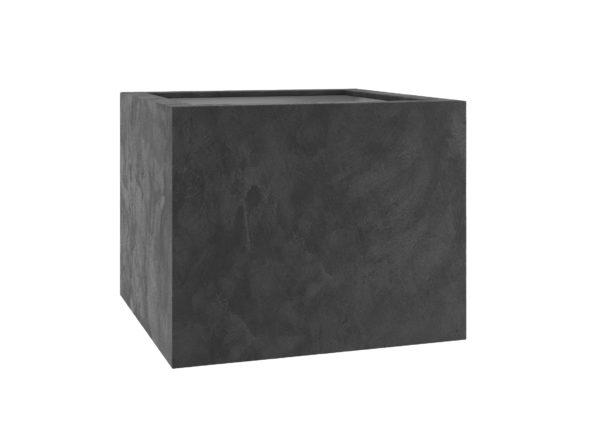 Pflanzkübel aus Fiberglas mit Quarz Beschichtung in dunkelgrau Model Sara