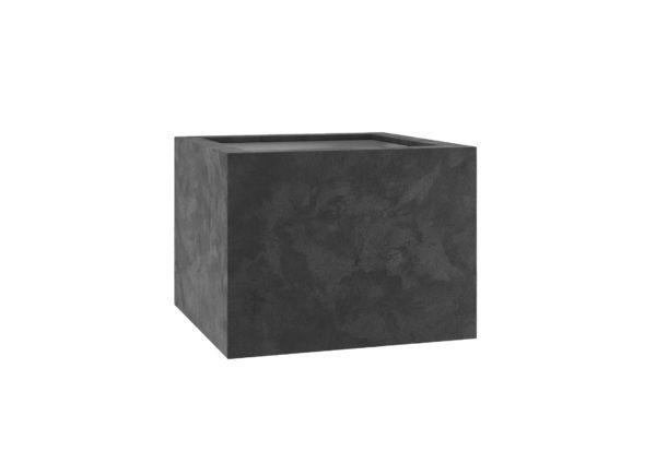 Terrassenkübel aus Fiberglas mit Quarz Beschichtung in anthrazitoptik Model Claudia