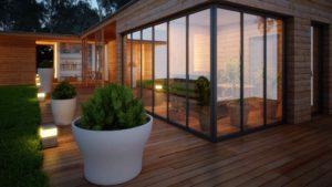 blumenkübel auf terrasse model tomasso