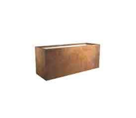 blumenkübel metall rost