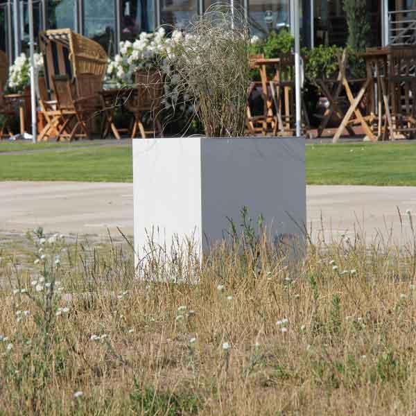 pflanzkübel aus beton 50cm x 50cm x 50cm