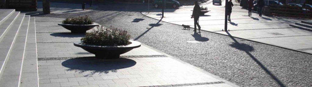 pflanzkübel aus beton in farbe anthrazit rund