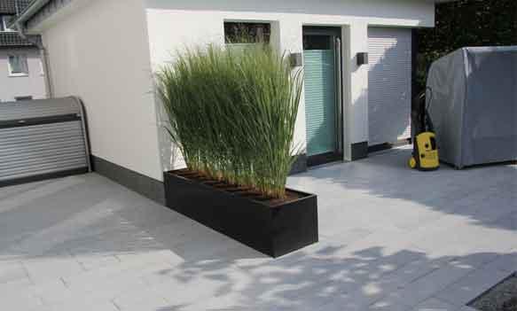 pflanzkübel aus beton in lebensraum terrasse