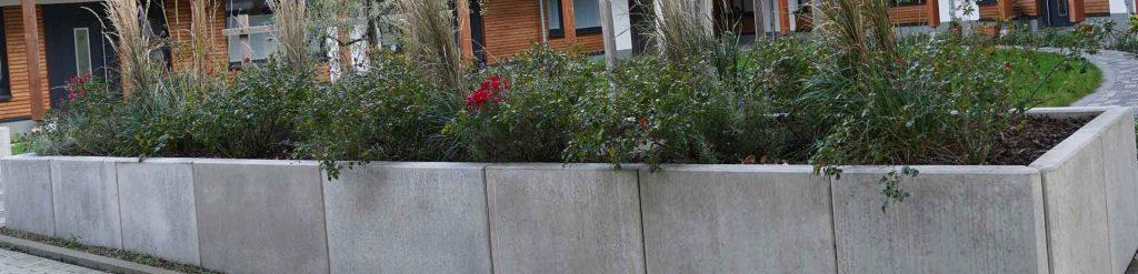 pflanzkübel beton im garten
